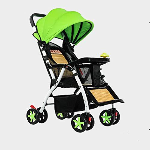 HAO XIAN SHENG Kinderwagen kann sitzen tragbare Faltbare Kinderwagen Bambus Rattan leichte vierrädrige Kinderwagen