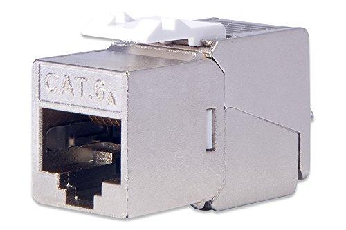 DIGITUS Keystone-Modul - Cat-6A - 24 Stück - Geschirmt - Designfähig - Klasse EA 500 MHz 10GBase-T - Montage Werkzeuglos