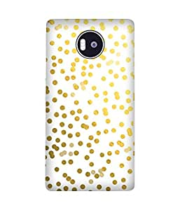Golden Confetti Microsoft Lumia 950 XL Printed Back Cover