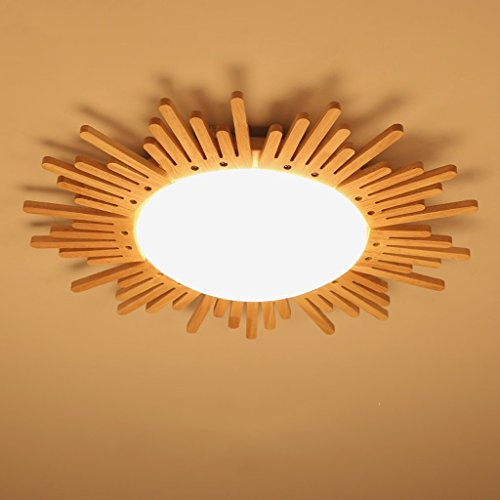 GBYZHMH Kreative Holzdecke Lampen Runde Schlafzimmer Massivholz Lampe  Restaurant Licht Kleines Wohnz