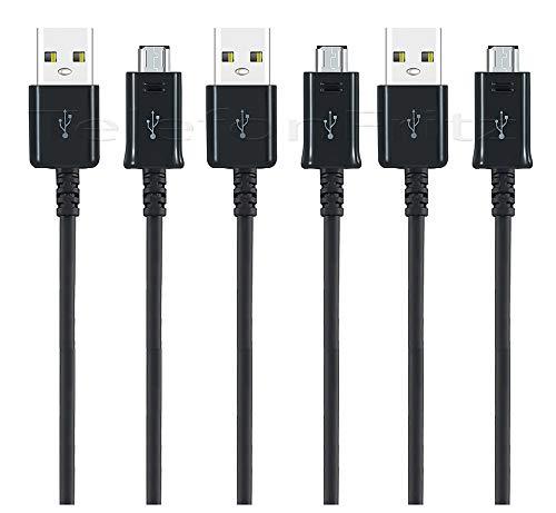 3 x XXL 150cm Original Micro USB Ladekabel Datenkabel für Samsung Galaxy S7/ S7 Edge/ S6/ S5/ S4/ A10/ M10/ A6, A6+ (2018) /A7 (2018)/ J4+/ J6+ J3/ J5/ J7/ A3/ A5/ A7 / Xcover4/ 3/ Displaytuch - Galaxy Samsung Stromkabel Tab Für