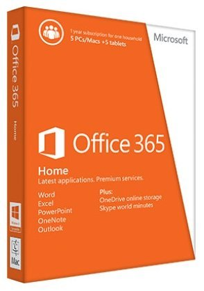 Microsoft 6GQ-00020 MS Office 365 Home Premium for Pc's/Mac/Tablets