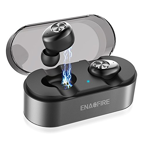 , ENACFIRE E18 Bluetooth Kopfhörer in Ear Bluetooth 5.0 Headset Stereo-Minikopfhörer Sport Kabellose Bluetooth Kopfhörer mit Portable Mini Ladekästchen und Integriertem Mikrofon ()