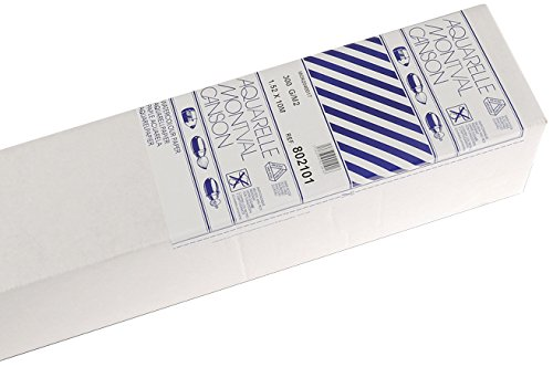 Canson Montval - Rollo papel de acuarela, 1.30 x 9.15 m, color blanco natural