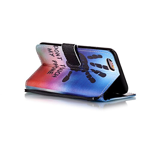 Owbb chrysanthème pourpre Housse en PU cuir de protection pour iPhone 6 Plus / 6S Plus (5.5 pouces) étui coque de téléphone Color 11