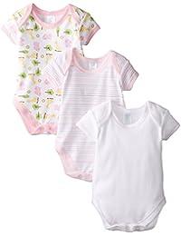 Spasilk Baby-Girls Newborn 3-Pack Short Sleeve Bodysuit