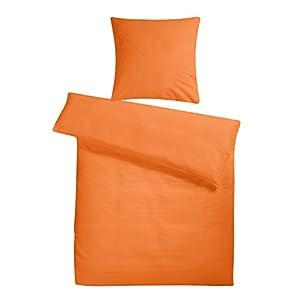 Seersucker Bettwäsche 135200 Baumwolle Orange Günstig Online Kaufen