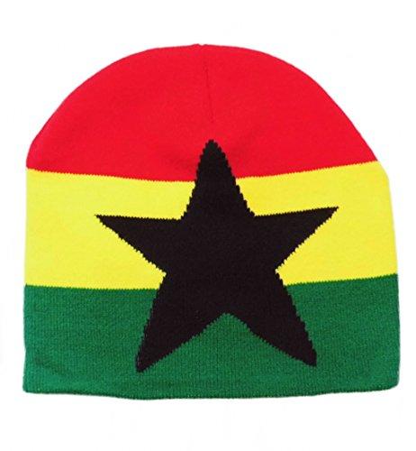 Ghana Afrika Beanie Mütze