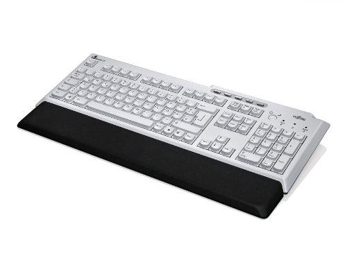 FUJITSU Tastatur KBPC PX ECO BSH Bright Light Grey/Black Handauflage 5 Komfort Tasten USB Kabel 2m inklusive Blaue LED (DE) -