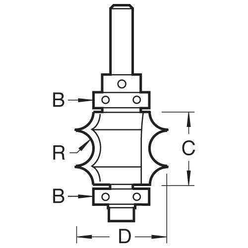 Trend - Selbst geführte versenkt bead cutter - 9/98X1/4TC