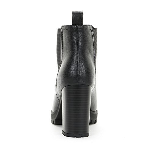 Prendimi Scarpe&Scarpe - Bottines Hautes avec Double Élastique et Fond Renforcé, à Talons 9 CM Noir