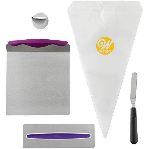 Wilton 2104-3641 Basis-Kuchendekorations-Set, Einsteiger, 16 Teile, Mixed, violett Cupcake-spatula