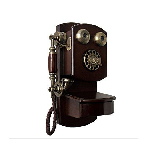 Maschine Ringer (Health UK Telephone- Telefon Wandbehang Alte Massivholz Wählscheibe Antike Retro Dial Telefon Hause Festnetztelefon Plattenspieler Telefon Mit Classic Glocke Ringer Welcome ( Farbe : Rotary dial version ))