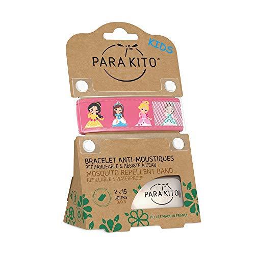 Imagen de parakito  modelo para niño  proteccion natural antimosquito  kit 2 x para'kito pulsera repelente de mosquitos rosado et azul + 1 x recarga para'kito para pulsera alternativa