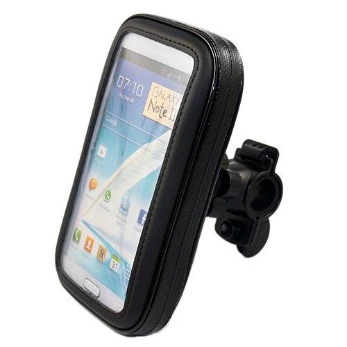 Electro-Weideworld Fahrradhalterung Tasche Cover Hülle Case für Samsung Galaxy Note 2 N7100, LG Optimus G Pro F240 E980 E985, Sony Xperia Z L36h, Samsung Galaxy Note i9220 GT-N7000