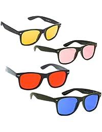 Phenomenal Unisex Sunglasses Combo of 4 (Red, Yellow, Pink, Blue)