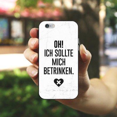 Apple iPhone X Silikon Hülle Case Schutzhülle Feiern Party Leben Silikon Case schwarz / weiß