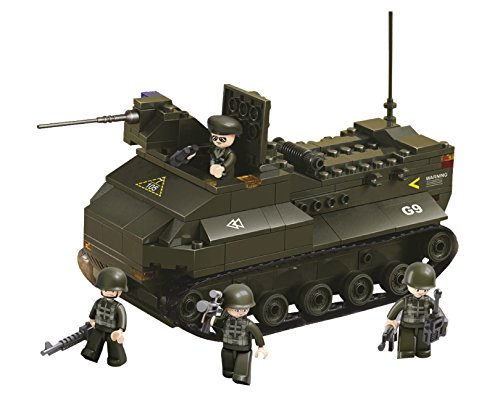 Funstones - Baustein Set Army Armee Ketten Panzer Panzerfahrzeug + Soldaten Bausteine Bausatz Set