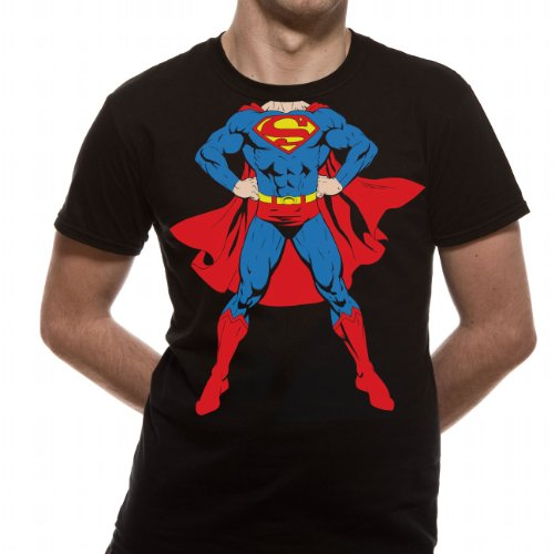 Loud Distribution-Superman-Full Body Men's T-Shirt Schwarz - Schwarz