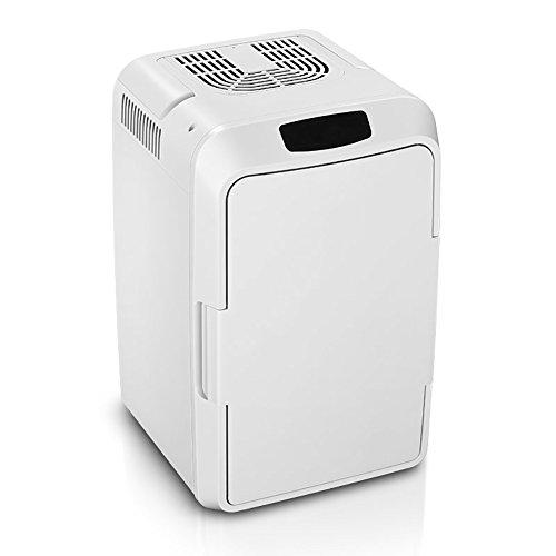 FJW Minikühlschrank Elektrischer Kühler Und Wärmer 12L Hohe Kapazität Kühlschrank Kühlschrank Wechselstrom/Gleichstrom Schnelle Kühlung Tragbar Thermoelektrisches System,White