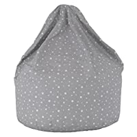 Cotton Grey Stars Bean Bag Large Size