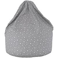 Cotton Grey Stars Bean Bag Large Size