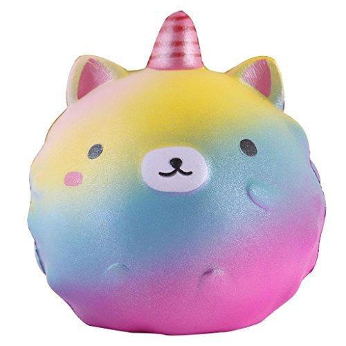 Anboor 4.3Squishies Unicorn Panda Jumbo Slow Rising Kawaii Scented Soft Colorful Animal Squishies Toys Color Random