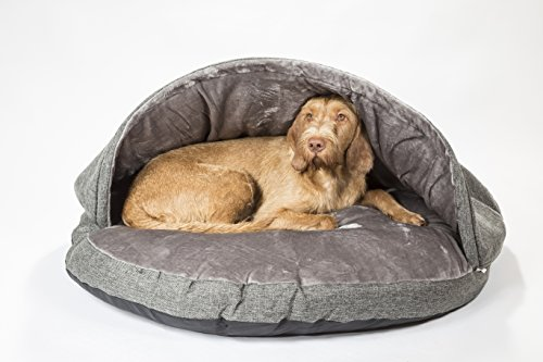 "Collared Creatures Dog Cave Bed, Dog Bed, Extra Large 114cm (45"") Grey 1"