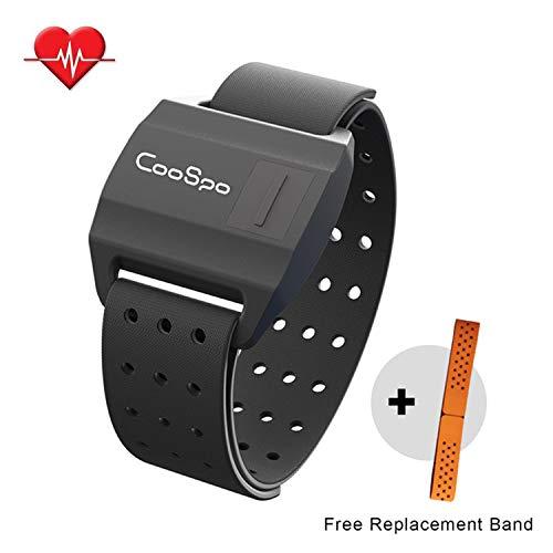 CooSpo Bluetooth & ANT+ Herzfrequenz Armband Armgurt Heart Rate Monitor Sensor Kompatible mit Wahoo Polar RUNTASTIC Strava ENDOMONDO Zwift
