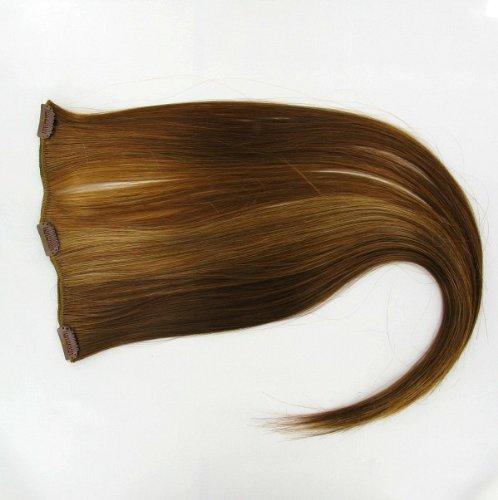 extensions à clip cheveux blond foncé cuivré 60 cm ref: g27