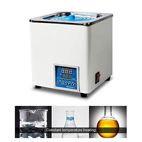 TOPQSC LaborWasserbad Elektrisch Digitalanzeige,Bain Marie konstanter Temperatur, wählbare Öffnungen, RT bis 100 ° C, 3L Kapazität, 300W, 220V / 60 Hz