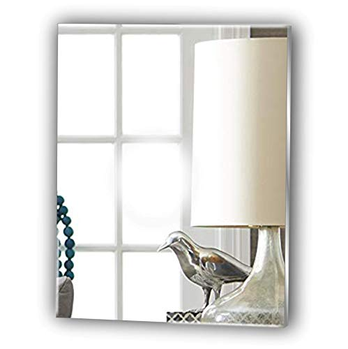 Black Friday Sale * Frameless Rectangle Bathroom Glas Look Acrylic Mirror - Lightweight Vanity Mirror...