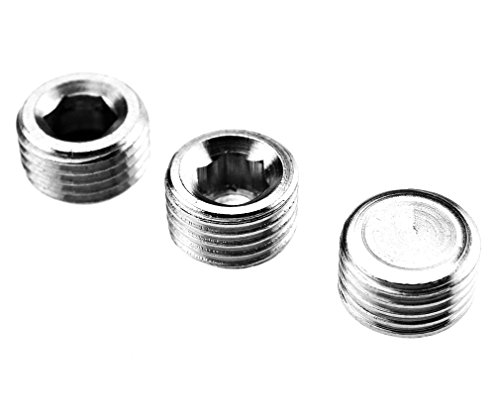 """3 Pieces 1/4"""" BSP Brass Blanking Plugs With O-Ring Seal Test"""