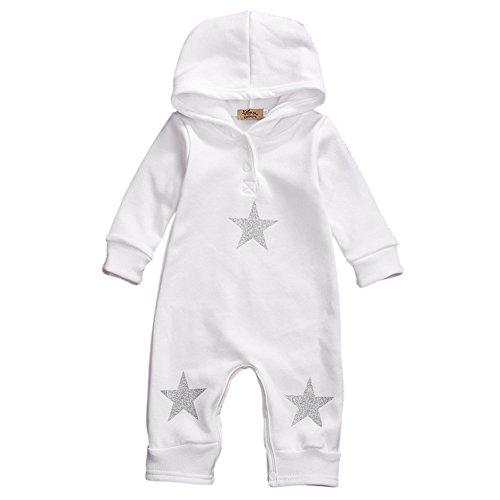 Hoodie Gift (ESHOO Baby Jungen Mädchen Jumpsuit Hoodie Strampler Langarm Creepers Bodysuit)