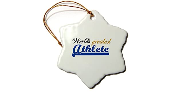 Buy 3drose Orn 151284 1 Worlds Greatest Athlete Best Sporty Person Most Talented Sports Person Blue Text Snowflake Ornament Porcelain 3 Inch Online At Low Prices In India Amazon In