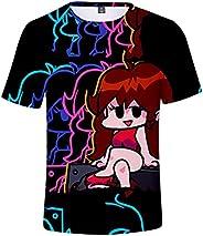 Juegos Friday Night Funkin Camiseta niños Tshirt Manga Corta niños niñas Ropa Divertida impresión 3D Moda Casu