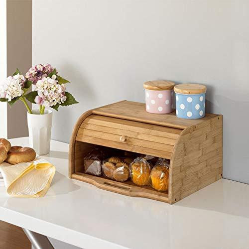 Brotkasten Brot staubgeschützter Koffer Eco Kitchen Storage Holders Tischorganisator Aufbewahrungsbox aus Naturholz