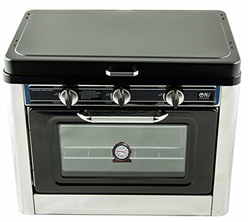 nj co 01 camping gas oven hob portable stainless steel stove 2