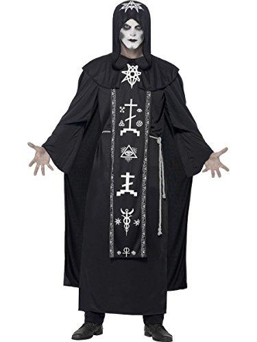 Smiffys Herren Kostüm dunkler Voodoo Priester Hexer Halloween