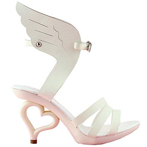 sualizza storia beige ala di Angelo Wings scarpe da ballo donna sposa matrimonio Sandali, SM36822BG38, 38, Ala di angelo beige