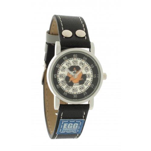 Ei-4042807DDP Kinder-Armbanduhr Analog Quarz Zifferblatt schwarz Lederband