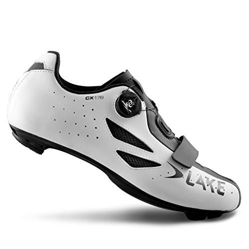 Rennrad-Schuhe LAKE CX 176 Weiß Größe 44 (Schuhe Lake)