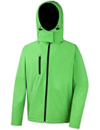 Result: TX Performance Hooded Softshell Jacket R230M, Größe:L;Farbe:Vivid Green/Black
