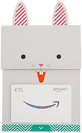 Buono Regalo Amazon.it - €15 (Busta Coniglietto felice)