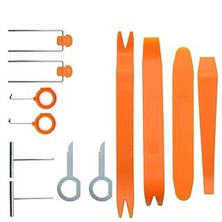12 Stück Kunststoff-Autoradio -Tür-Clip-Panel Trim Dash Audio Removal-Hebel-Werkzeug Reparatur-Set