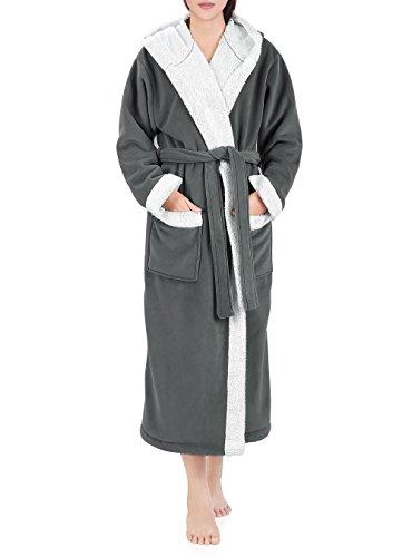 Genuwin Unisex Bata baño Capucha Hombre Mujer - Albornoz