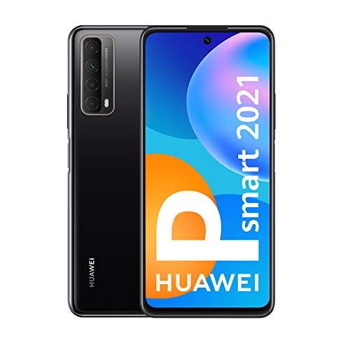 Oferta de HUAWEI P Smart 2021 - Smartphone de 6,67 Pulgadas Full HD, 4GB de RAM y 128 GB de ROM, 22.5W HUAWEI Supercharge, 5000 mAh de batería, Cuádruple cámara 48 MP, Negro [Versión ES/PT]