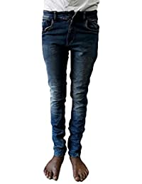 Style Rocks Men's Casual Cotton Regular Fit Jeans (SRJ-03_Blue)