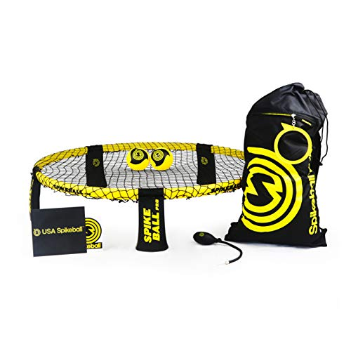 Spikeball Pro Kit (Tournament Edition) - inkl. stärker Spielen Net, neue Bälle können Spin, tragbar Ball Pumpe, Rucksack - AS SEEN ON Shark Tank TV -