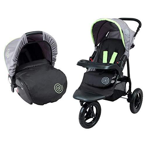 Imagen para Bambikid Duo Cochecito 3ruedas negro gris verde